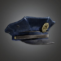 Police Hat (BHE) - PBR Game Ready