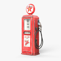texaco gas pump 3D