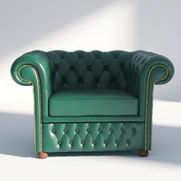 chesterfield arm chair 3D model