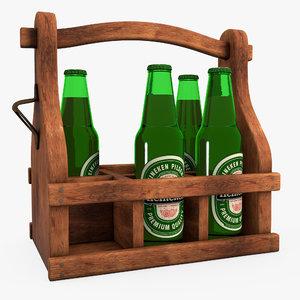 3D beer wooden box