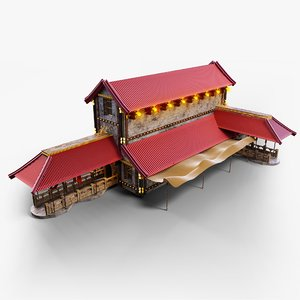 3D building architecture home model