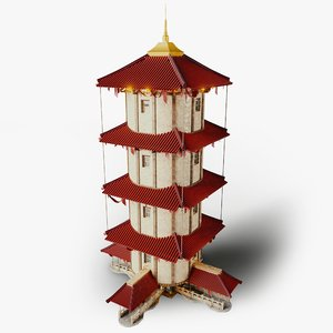 3D building chinese house model