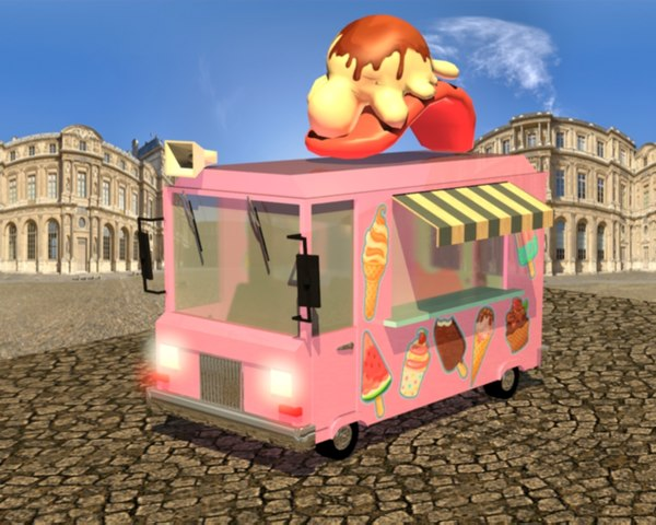 cream car ice 3D