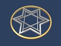 3D star david circle model