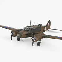 3D model avro aircraft airplane