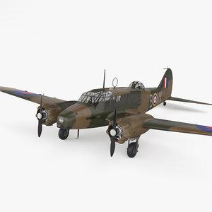 3D model avro aircraft airplane