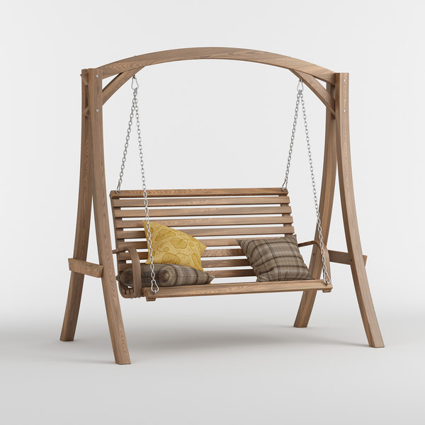 3D marlette outdoor wood swinging