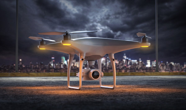 dji drone 3D model