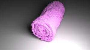 towel bathrooms bedrooms 3D model