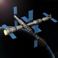 space station 3D model