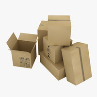 boxes moving 3D model