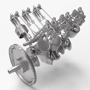 engine combustion internal 3D