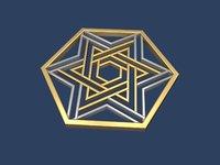star david hexagon 3D model