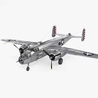 3D north american b-25 model
