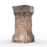 historic stone 3 3D model