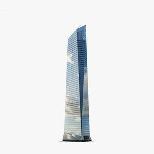 torre cristal 3D model