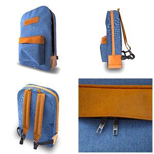 backpack bags 3D model