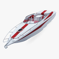 3D generic speed sea boat