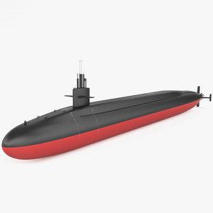 ohio class submarine 3D model