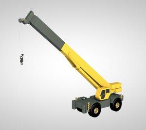 3D crane liebherr mobile