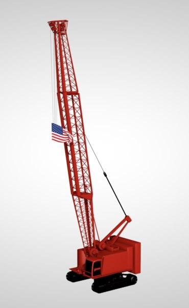tower crane industrial machine 3D
