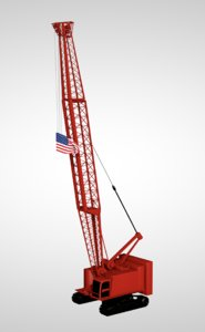 tower crane industrial machine 3D