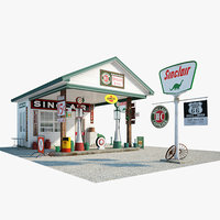 sinclair gas station model