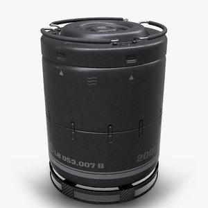 3D pbr sci-fi barrel model