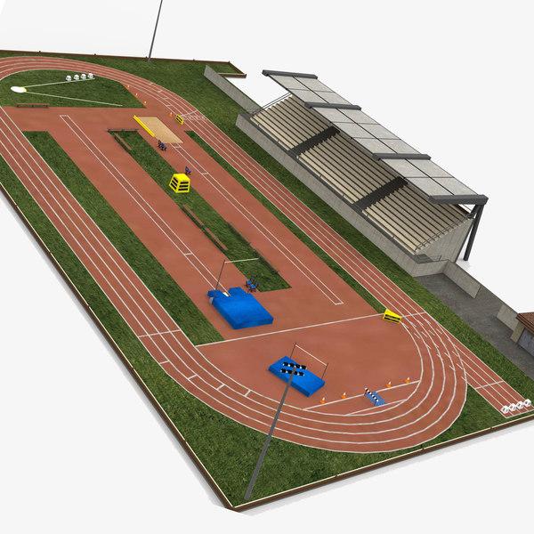 athletics track stadium 3D model