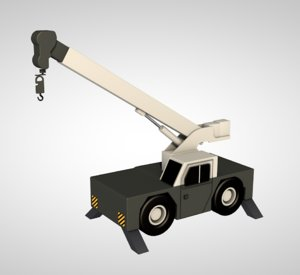 3D tower crane industrial machine