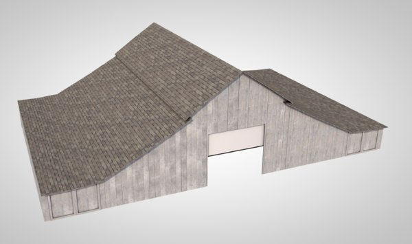photorealistic old barn farm 3D
