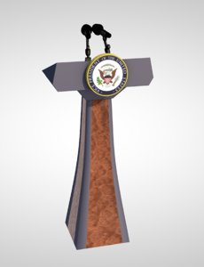 podium president presidential 3D model