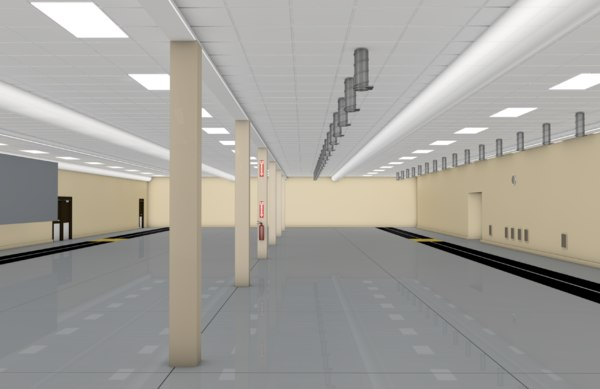 warehouse factory room model