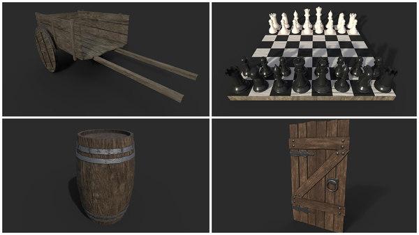 woods objects 3D model
