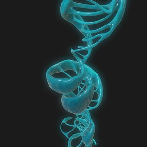 3D dna science helix