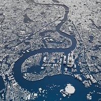 london city skyline 3D model