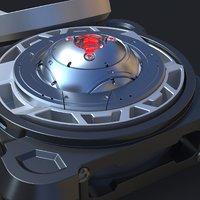 3D concept sci-fi device model