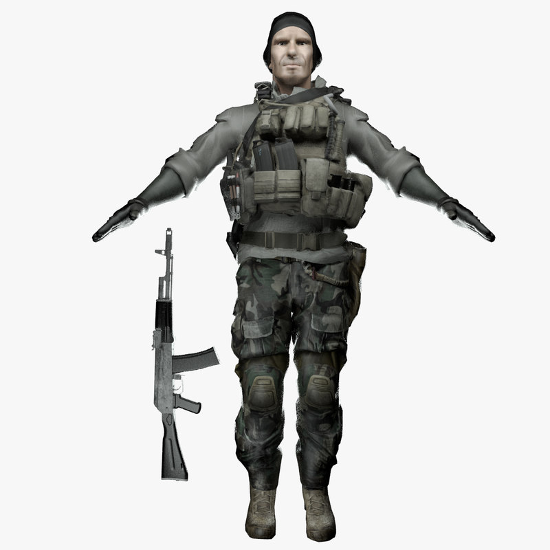 military man soldier 3D model