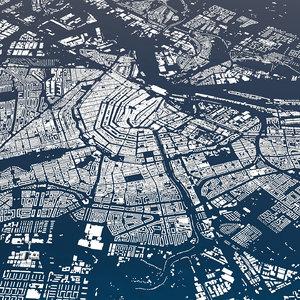 city suburb cityscape model