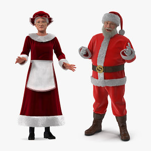 mr claus rigged 3D model