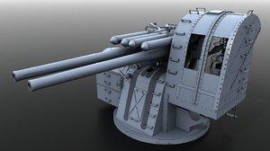 type 89 naval gun 3D model
