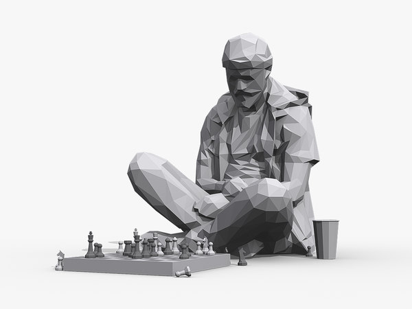 street chessplayer 3D model