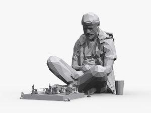 street chessplayer 3D model