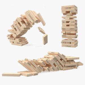 3D jenga tower model