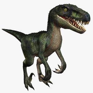 raptor velociraptor dinosaur model