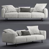 3D model flou binario seats sofa