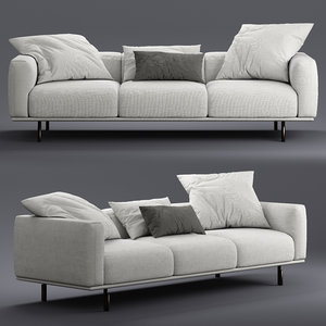 3D model flou binario seats sofa