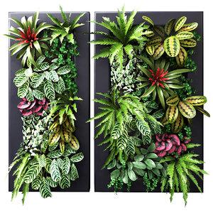 3D plants wall model