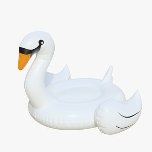 3D realistic float ring swan model