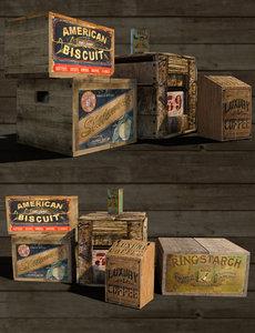 3D vintage store goods